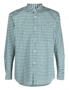 COMME DES GARÇONS green shirt with gingham check pattern for men - FW21