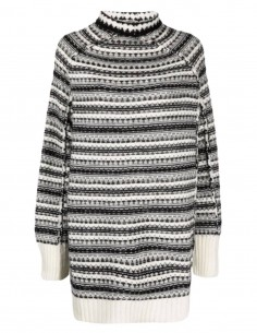 MM6 oversized black and white poncho-style sweater for women - FW21