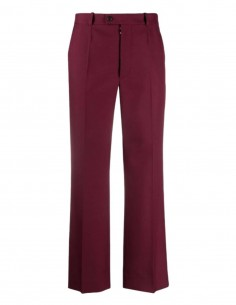 MAISON MARGIELA burgundy pleated trousers with lines for women - FW21