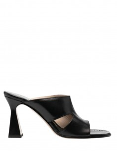 """Black WANDLER """"Marie"""" heeled mules with cut for women - SS21"""