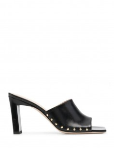 """Black """"Nana"""" WANDLER mules with heels and studs for women - SS21"""
