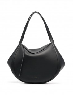 """WANDLER """"Lin"""" handbag in black leather with magnet for women - FW21"""