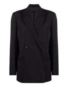 Veste blazer TOTEME oversize noire à 2 boutons pour femme - FW21
