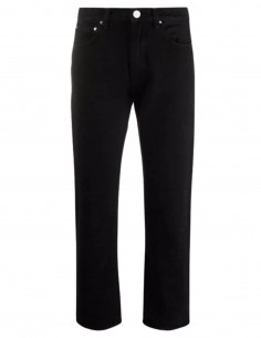 Jean noir TOTÊME coutures twistées avec logo patch pour femme - FW21