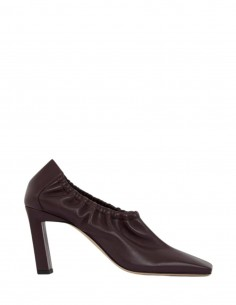 Burgundy elastic WANDLER pumps with square toe for women - FW21