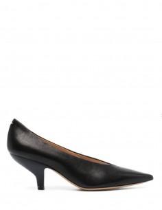Escarpins MAISON MARGIELA pointues noires à talon biseauté - FW21