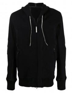 """Black """"Inconstant"""" reversible jacket ISAAC SELLAM bi-material for men - FW21"""