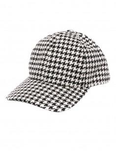 """Houndstooth print AMI PARIS cap with """"Ami de coeur"""" logo - FW21"""