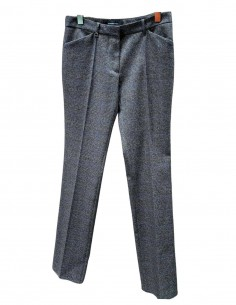 Grey and blue Barbara Bui prince of wales pattern trouser FW 2020/21