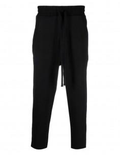 Black THOM KROM 7/8 straight cut jogging pants for men - FW21