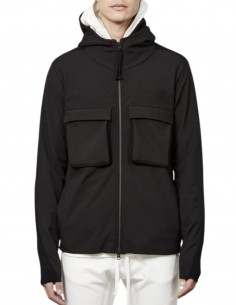 THOM KROM black hooded jacket with chest pockets for men - FW21