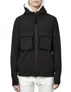 Veste THOM KROM noire à capuche poches poitrine pour homme - FW21