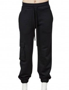 Thom Krom black cargo jogging pants for women - FW21