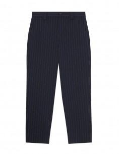 Ganni navy striped cigarette pants for women - FW21