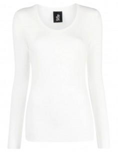 T-shirt côtelé blanc THOM KROM à manches longues pour femme Hiver 2021/2022