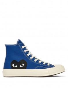 CDG Play X Converse high top sneakers monoheart - Blue