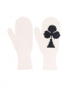 Ecru MM6 mittens in wool for women - FW21