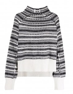 MM6 reversible two-tone jacquard jumper for women - FW21