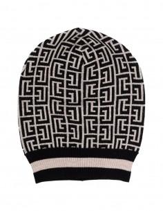 Balmain two-tone monogram hat in wool for women - FW21
