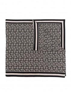 Longue écharpe monogramme Balmain bicolore pour femme - FW21