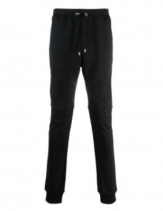Balmain Black biker jogging pants for men - FW21
