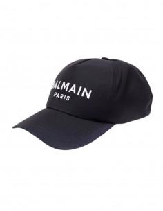 Balmain navy cap with white logo for men - FW21