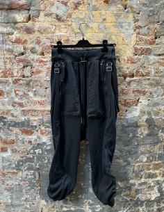 Pantalon noir BBS style sarouel pour homme - FW21