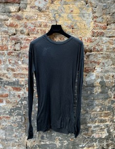 BBS ribbed black tee shirt with long sleeves for men - FW21