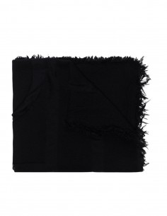 Totême black monogram scarf for women - FW21
