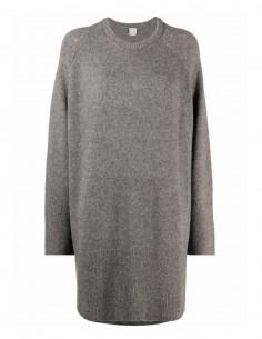 Grey Totême mi-lenght oversize jumper for women - FW21