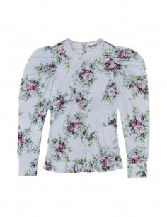 Ganni blue floral print blouse for women - FW21