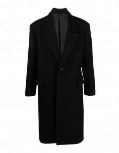 Ami oversized wool coat with shoulder pads for men - FW21