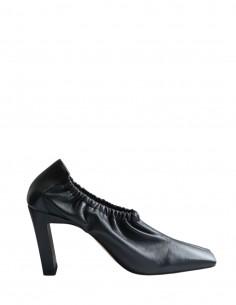 Escarpins WANDLER élastiques noir à bout carré pour femme - FW21