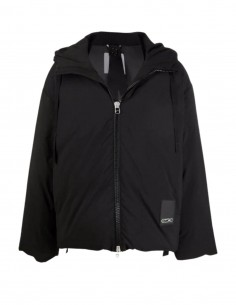 OAMC thick black puffer jacket with hood for men - FW21
