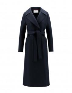 Harris wharf long bathrobe style navy coat for women - FW21