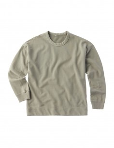 Ten C sage green cotton sweatshirt for men - FW21
