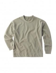 Sweatshirt Ten C vert sauge en coton pour homme - FW21