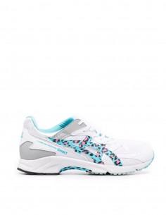 Comme des Garçons Shirt x Oasics blue leopard print sneakers for men - FW21