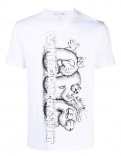 T-shirt blanc  Comme des garçons Shirt imprimé noir Kaws pour homme - FW21