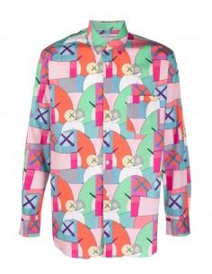 Chemise rose Comme des garçons Short imprimé multicolore Kaws pour homme - FW21