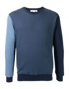 Comme des garçons Shirt two-tone blue sweatshirt for men - FW21