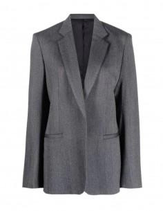 Veste de blazer grise Totême à motif chevrons pour femme - FW21