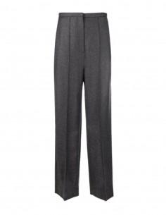 Totême grey pants in wool blend for women - FW21