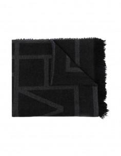 Grey Totême monogram cashmere scarf for women - FW21