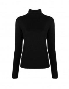 Totême fine black turtleneck jumper for women - FW21