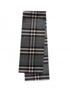 Totême grey check pattern scarf for women - FW21