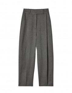 Pantalon gris Totême à motif chevron pour femme - FW21