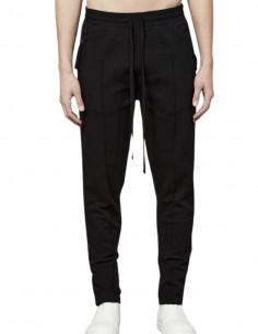 Pantalon de jogging noir Thom Krom avec coutures pour homme - FW21