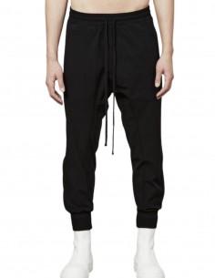 Pantalon de jogging noir en nylon stretch Thom Krom pour homme - FW21