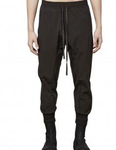 Pantalon de jogging marron en nylon stretch Thom Krom pour homme - FW21
